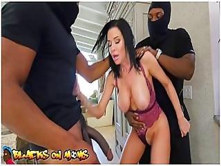 Blacks On Moms - Two Masked Home Invaders Shove Their Big Black Cocks Inside Of Veronica Avluv