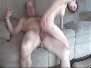 Skinny Busty Teen Loves Her Owner Of An Apartment Big Cock