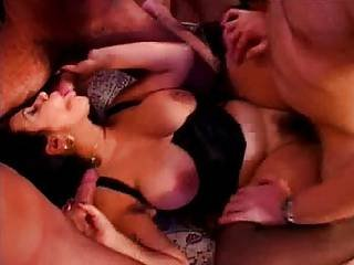Hot woman gangbanged