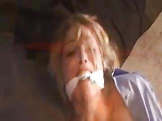 April Taped Gagged