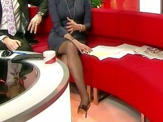 Louise Minchin Looking Hot In Stockings