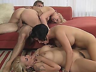 Milf Bisexual Big Tits Blowjob Fucking Foursome