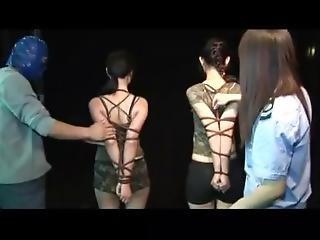 Chinese Military Girls In Bondage Training