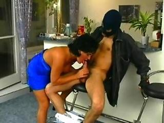 Thief Gets Cock Raising Surprise