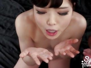 Shino Aoi Swallows A Lot Of Cum (slowmotion Cum Playing)