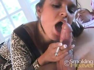 Destiny Roxx Smoking Blowjob