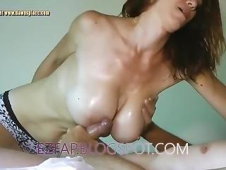 Milf Oil Boob Job And Titty Fuck Massage Big Tits