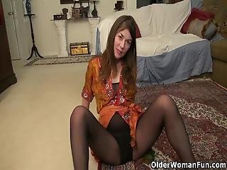 American Milf Susana Moore Will Get You Hard In Her Nylon Pantyhose Before She Stuffs Her Hairy Pussy With A Dildo Bonus Video: Usa Milf Anna