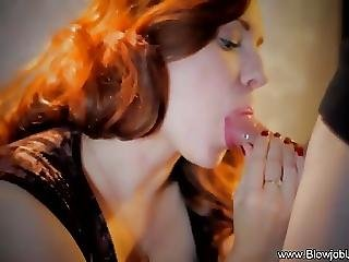 Redhead Milf Gives The Best Cfnm Blowjob