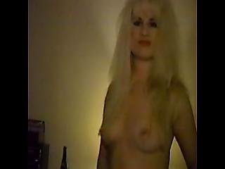 Hairy Blonde Ex Girlfriend Tammy Doing A Striptease Classic