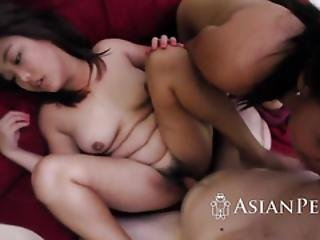 Glamorous Asian Cutie Got Her Hot Hairy Twat Wrecked