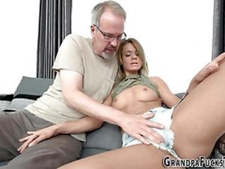 Teen Blowing Old Cock