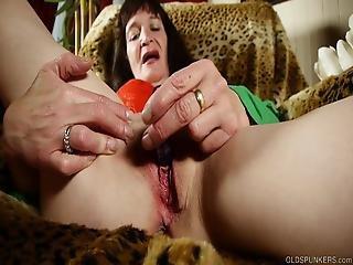 Slutty Old Spunker Loves 2 Talk Dirty Fuck Her Juicy Pussy