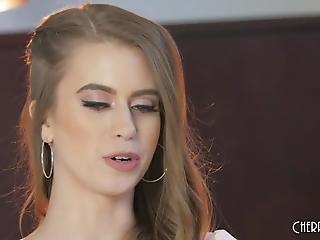 vakker, brunette, intervju, mykporno