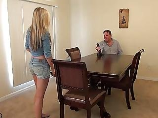 Hot Teen Blonde Gets It From Older Guy