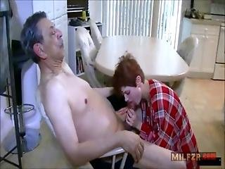 Rough Sex With Grandpa