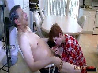 Rough Sex With Grandpa