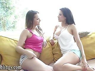 Lesbian Stepsis Licks Vag