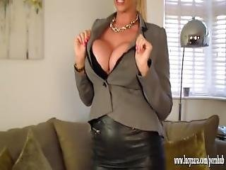 Busty Blonde Lucy Zara Turns Into Vampire And Fucks Toy As She Fingers Clit