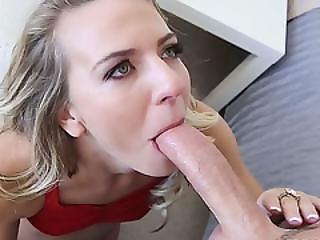 Blonde Teen Kiara Knight Destroyed By A Giant Dick