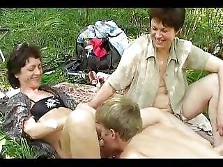 Crazy Russian Picnic With Big B Bs Mature