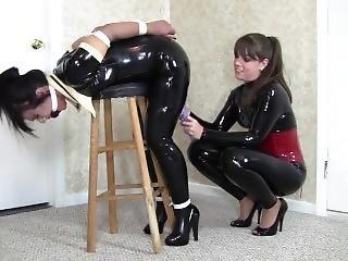 Latex Maid Bound & Cumming