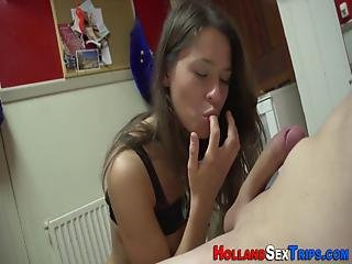 Hot Prostitute Sucks Cock