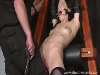 Enslaved Painslut Elise Graves Whipping In Hard Bdsm Punishment Session Of Tit Torments And Extreme Bondage In The Dungeon