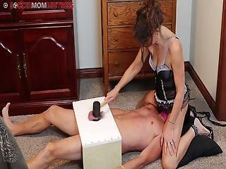 Milf Cock Box Smother + Rubber Mallet O2 Deprivation
