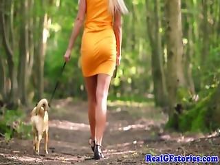 Scottish Housewife Fucks Black Cock Outdoors