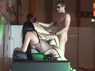 Threesome Hard Sex On The Stage