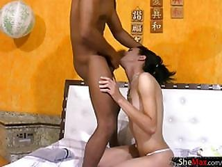 Ladyboy with pigtails deepthroats and bangs dudes anal hole 5