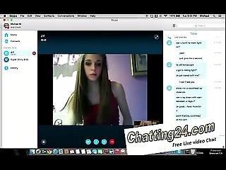 British Girl Dancing In The Skype Being Nudy