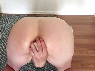 Submissive Ass Fucks Herself With Toy