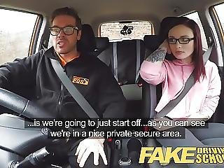 Fake Driving School 19yr Petite American Student Creampie