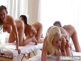 Mother Daughter Spa Day - Anikka Albrite Lizz Taylor Lyla Storm And Tanya Tate