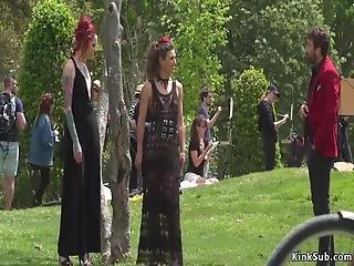 Alt Mistress Disgraces Spanish Babe In Public