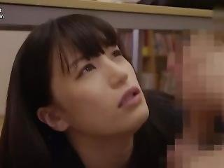 Blackmailed Japanese Teacher Blow Student Under The Table