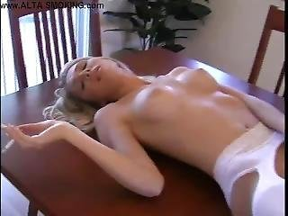 Gorgeous S-a-b-r-i-n-a_r-o-s-e Smokes And Masturbates On Table