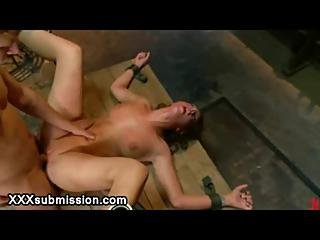 Immobilized Babe Fucked And Waxed And Face Jizzed