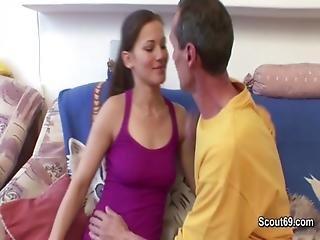 Grandpa With Big Cock Seduce Grand-daughter To Fuck