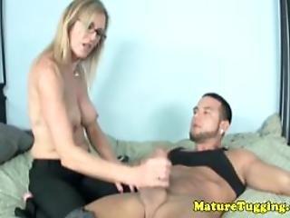 Milf Cockrub Lover Jerking Dick