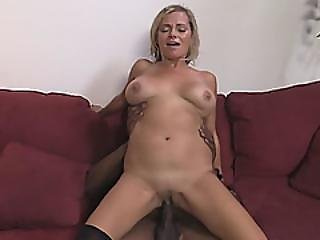Busty Blonde Cougar Lexxi Lash Is Having Great Time While Riding Black Dick