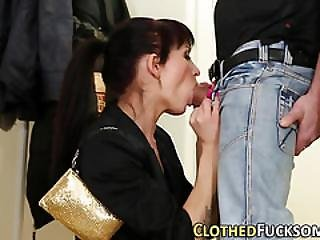 Pussy Tasted Clothed Euro