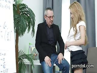 Kissable College Girl Is Seduced And Plowed By Her Senior Teacher