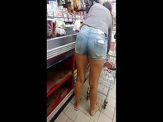 Candid In Jeans Short Shorts 2