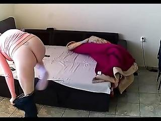 Spying My Mom Playing With Her Hairy Pussy