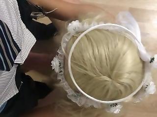 Dressed As A Bimbo Bride Sucking My Sugar Daddy`s Penis To Take Me In