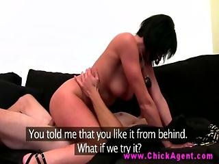 Euro Agent Blows Her Client On Casting Couch For Carreer