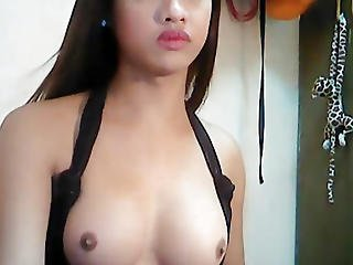 Adorable Tranny Playing With Her Cock